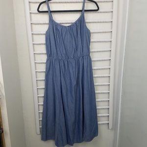 Dresses & Skirts - A-line Chambray Sleeveless Sun Dress